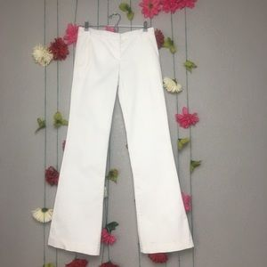 Theory White Wide Leg Trousers Size 6.